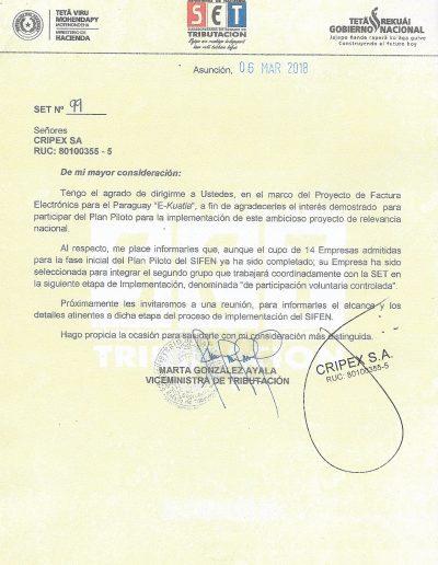 Secretaria de Estado de Tributación S.E.T. Nro. 99