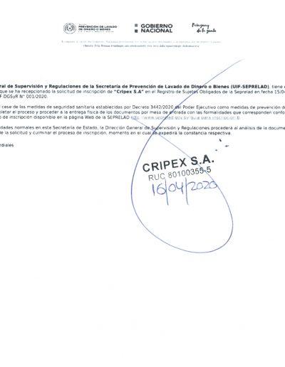 Registro 001 - AV Sujetos Obligados
